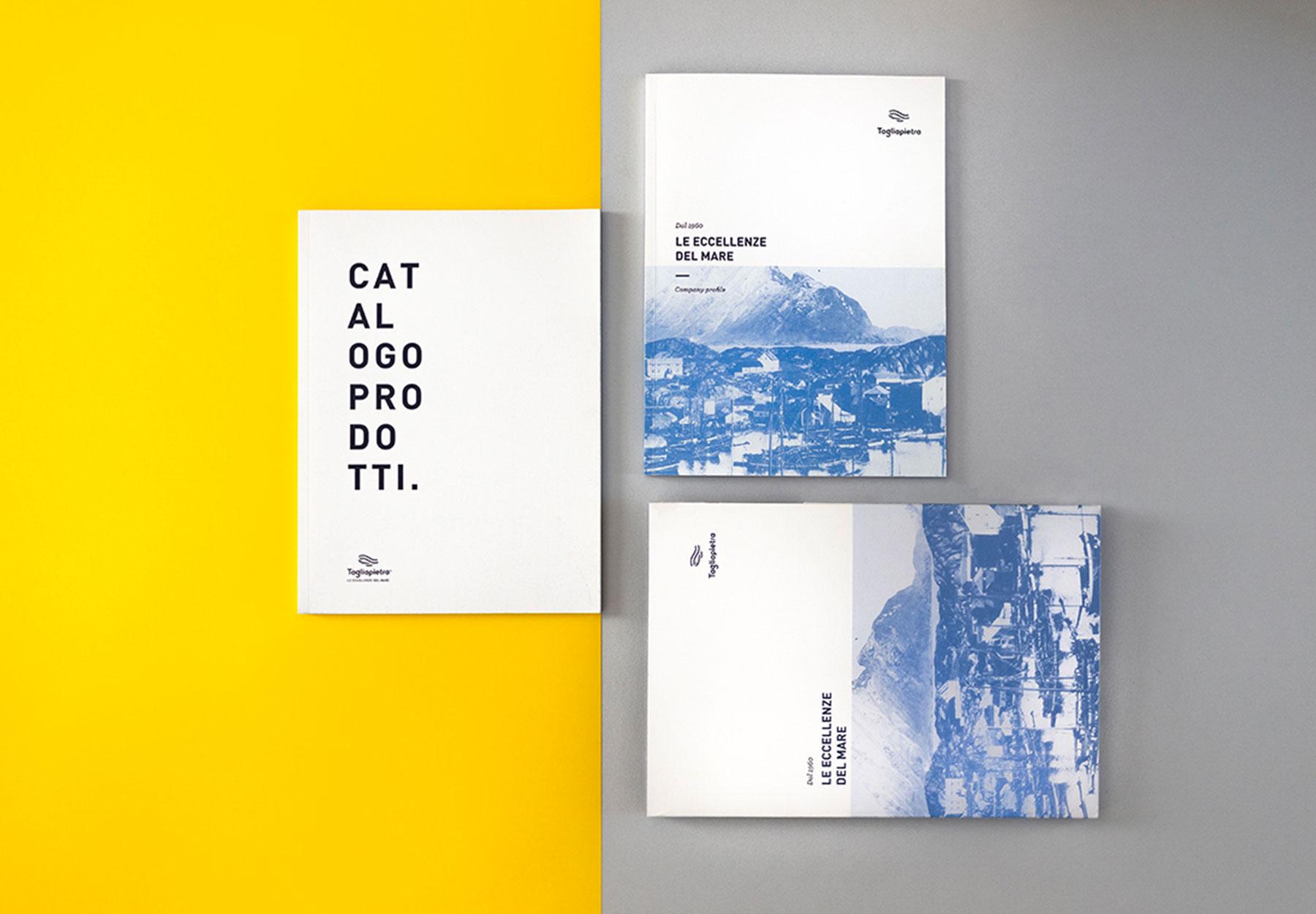 Progettazione linea cataloghi Tagliapietra Dry Studio