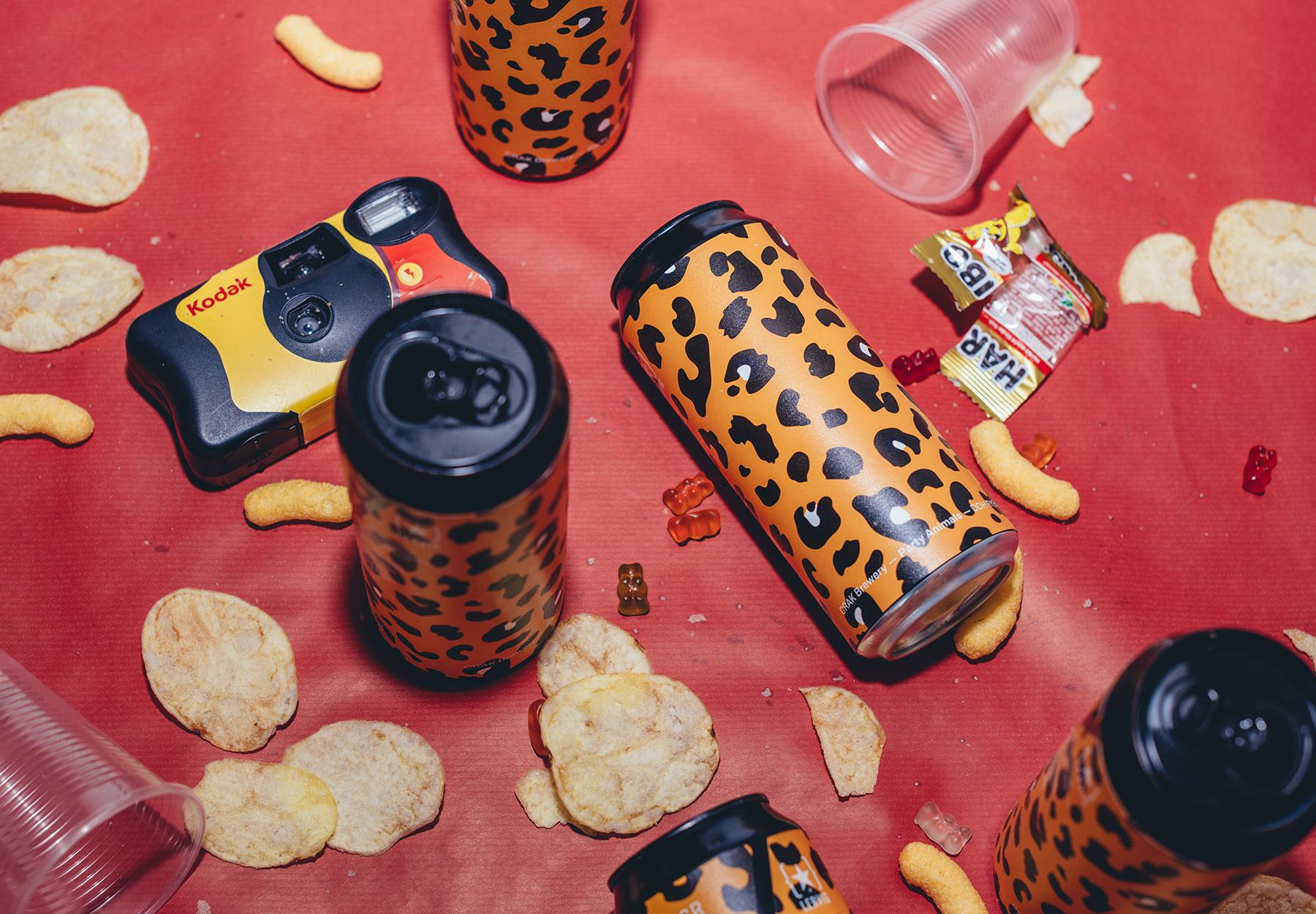 Party animals label design CrakBrewery-DryStudio