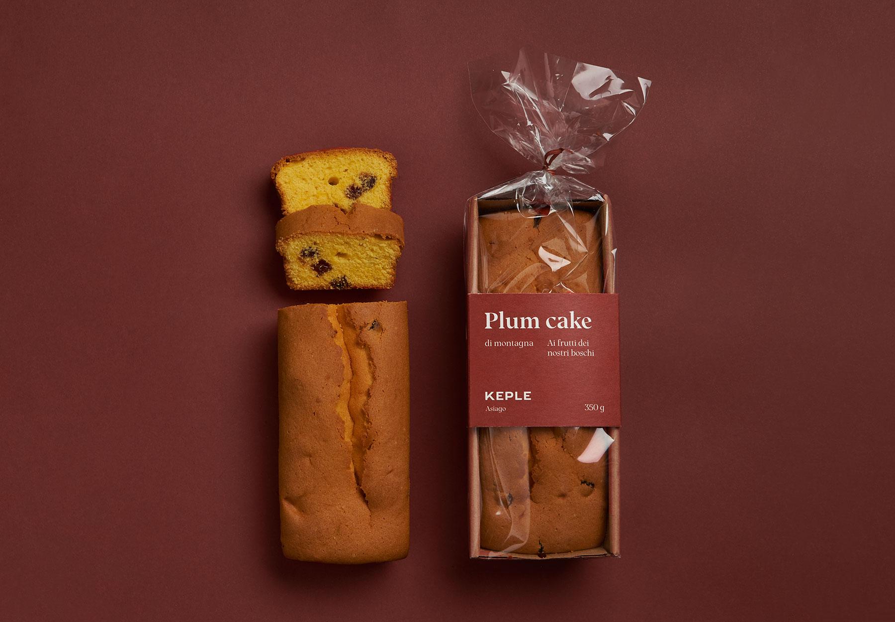 Packaging design plum cake Keple-Drystudio