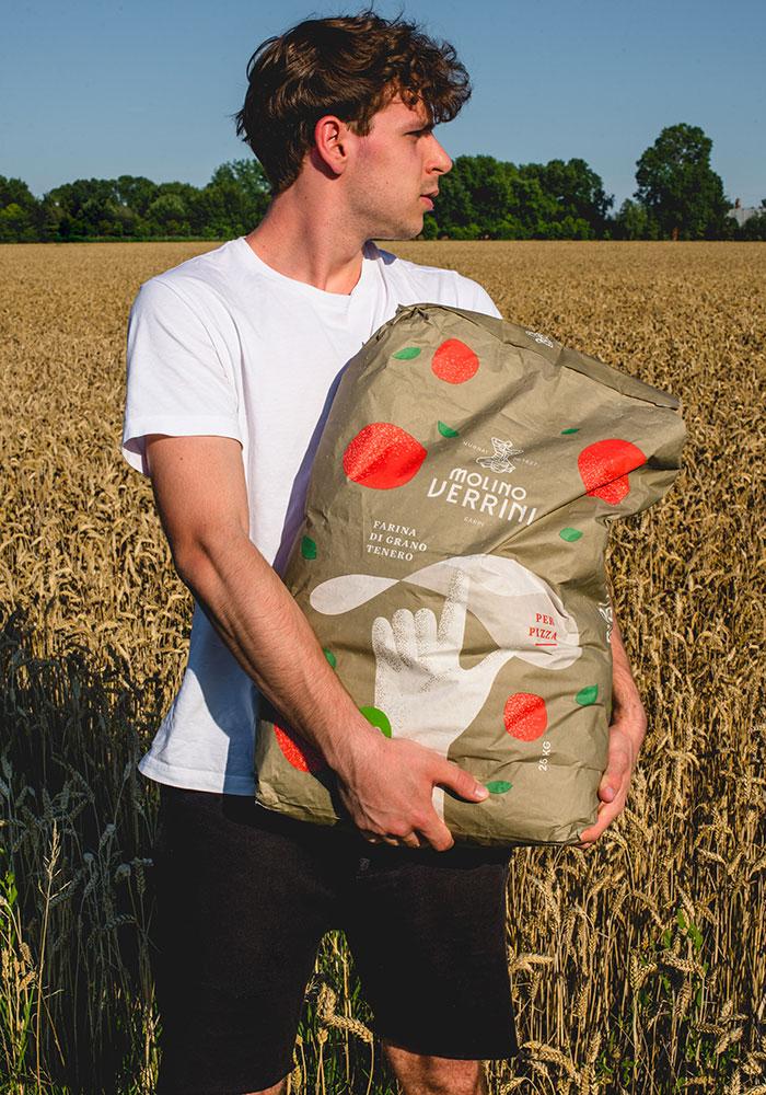 Progettazione Packaging farina per pizza Molino Verrini-DryDesign