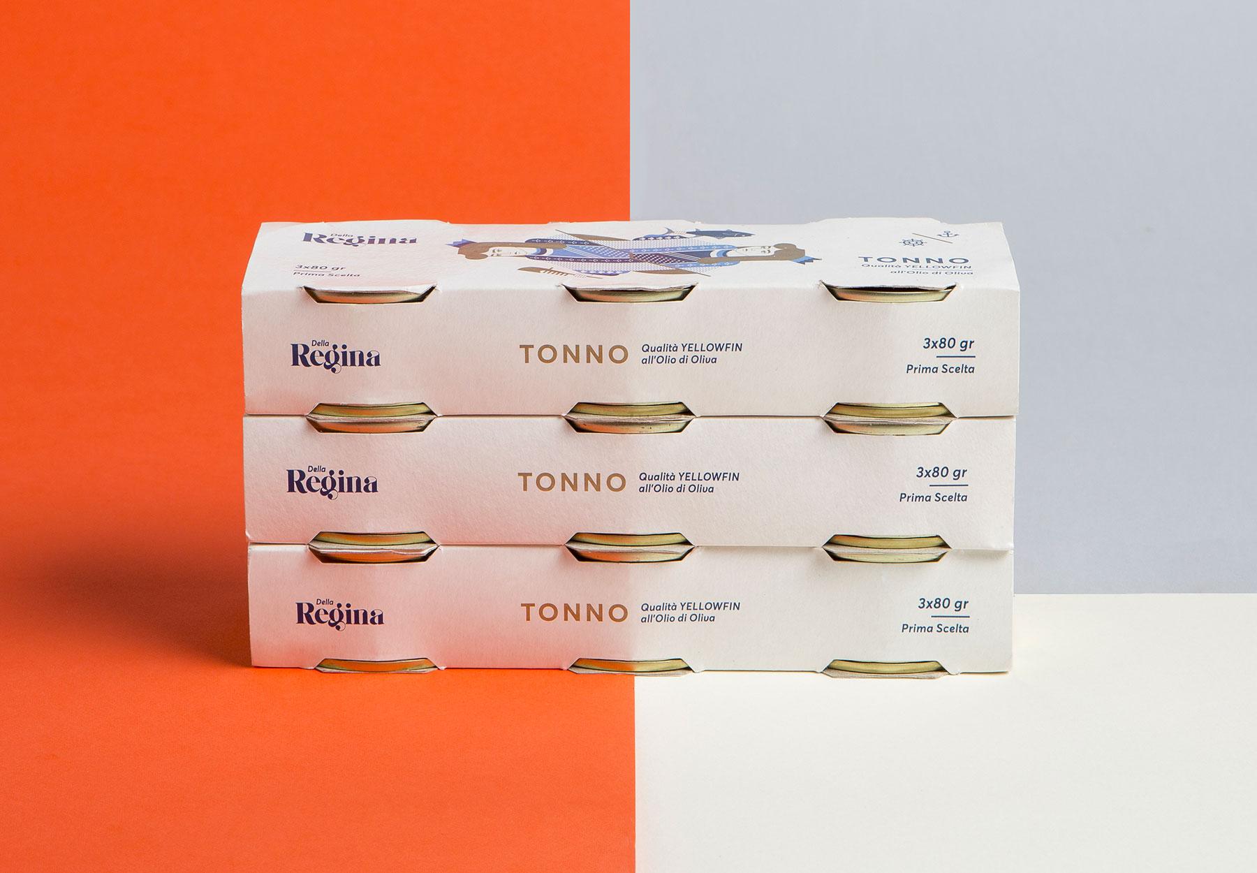 Progetto pack lattina tonno Dalla Regina Tagliapietra Drystudio