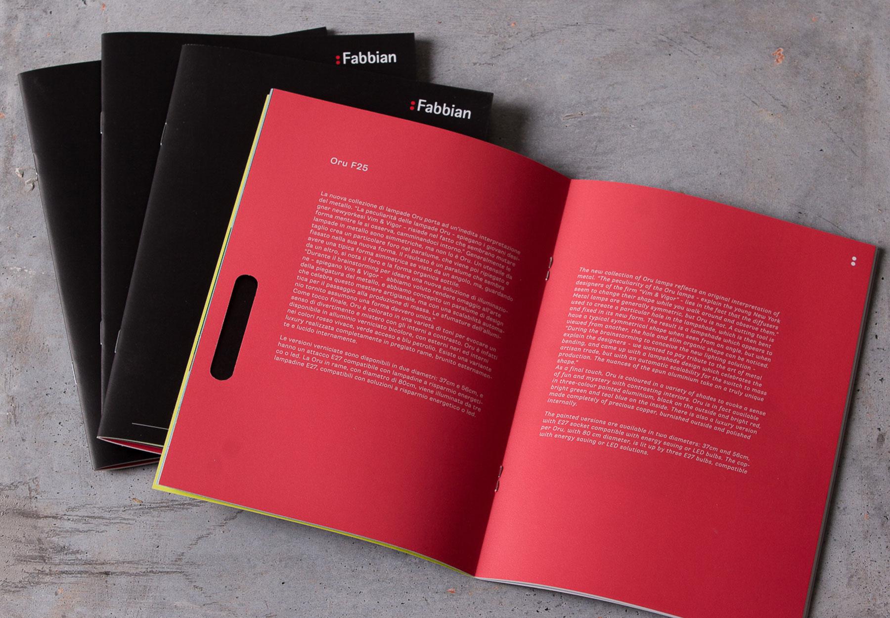Realizzazione shoot fotografico e catalogo Fabbian Dry Studio