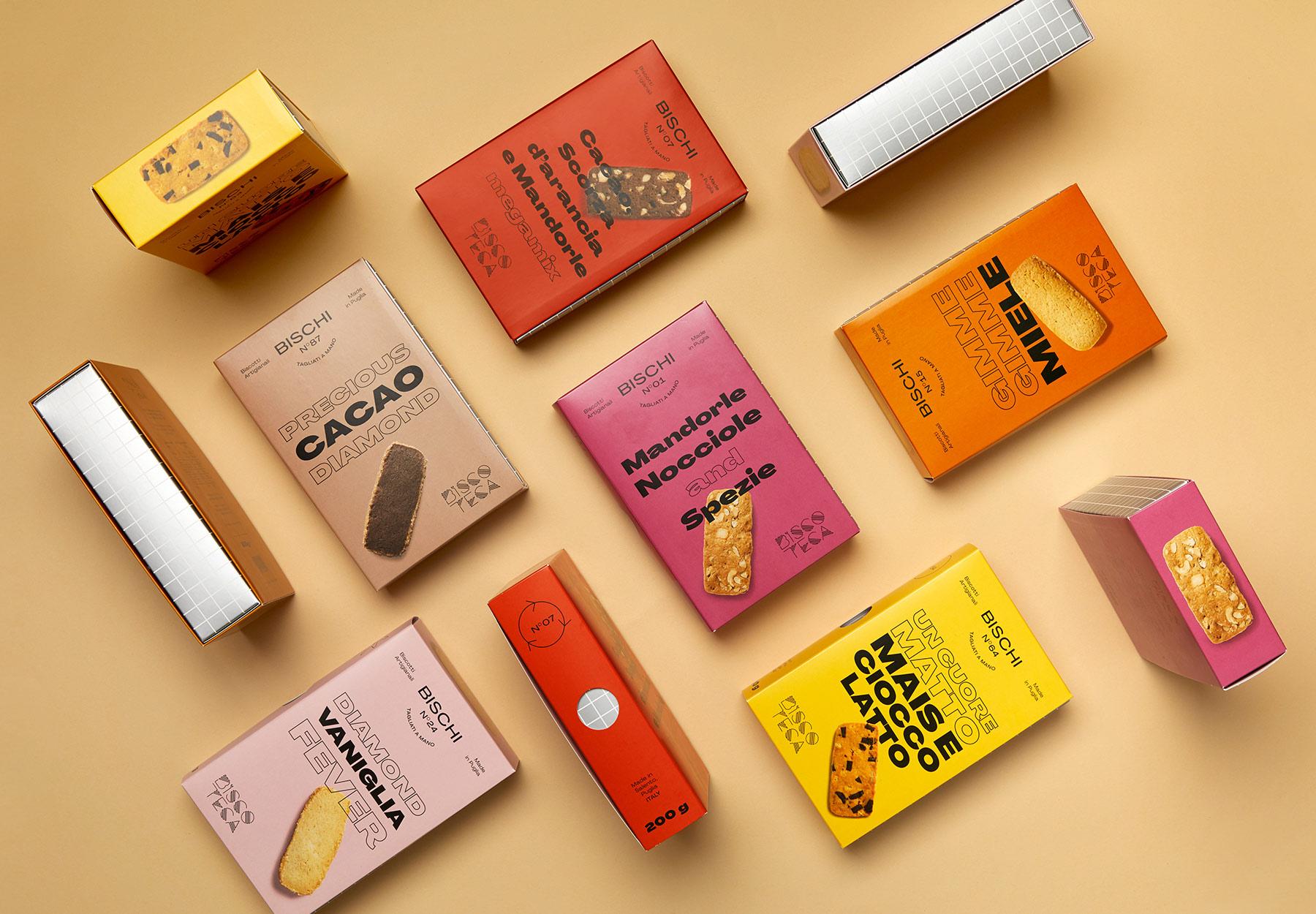 Progettazione Packaging biscotti Biscoteca Dry Studio